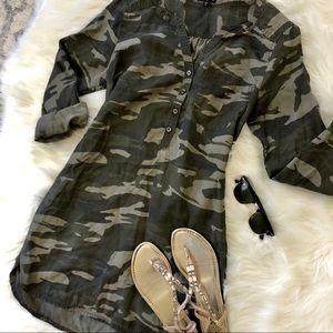 Express Camo Shirt Dress size M